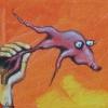 maly i fish / bursche & fish / boy & fish 50x50cm, acrylic on canvas