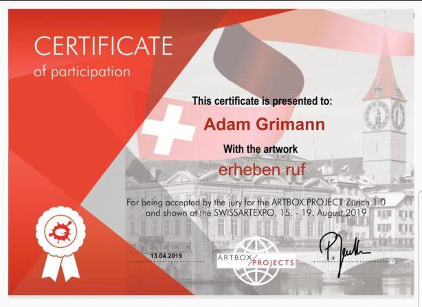 ...Bin sehr stolz diese Auszeichnung bekommen zu haben...